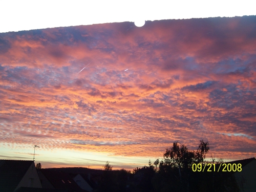 Another Autumn sunset sky in Fontaines